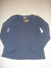 Wrangler Longsleeve V-Neck T Gr. S Peacoat Blue *W7290DH49* NEU