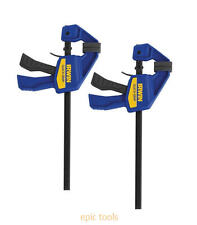 "2 x IRWIN Quick Grip Mini Bar 150mm 6"" Trigger / G / Speed Clamps, T5462EL7"