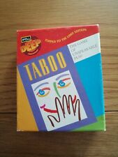 Vintage TABOO from MB Games travel edition rare item