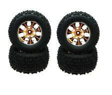 88012PG 1/10 Scale OffRoad Nitro Monster truck 4 Wheels and Tyres 7 Spoke set