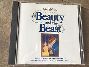 Walt Disney Classic Beauty Beast 1991 CD Original Movie Soundrack Buena Vista