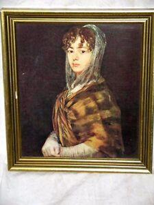 Senora Sabasa Garcia by Francisco de Goya 1746-1828 Lady in Shawl Framed Print