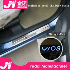 4x stainless steel LED car door welcome Pedal for Toyota corolla vios rav4