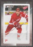 Canada 2016 Great Canadian NHL Forwards Steve Yzerman Souvenir Sheet MNH