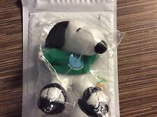 "MetLife PEANUTS 6"" Plush Snoopy w/ Green Shirt and Sandles NIP"