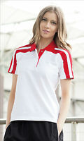 FINDEN & HALES LADIES RACING  POLO T-SHIRT  LV327 SPORTS TOP SHORT SLEEVED GIRLS