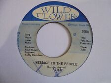 """New ListingPluto Message to The People Wild Flower Roots Reggae 7"""" Hear"""