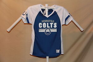 Indianapolis Colts DRAFT ME Fashion JERSEY/Shirt  MAJESTIC Womens Large  NWT $55