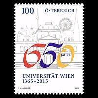 Austria 2015 - 650th Anniv. University of Vienna Education Architecture - MNH