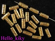 150pcs Antiqued gold plt Sparkle tube spacer beads A614