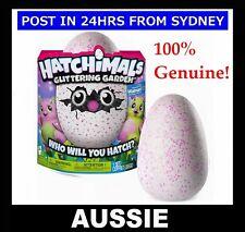 Genuine! Hatchimals Glittering Garden - BURTLES - Spin Master Egg NEW Pink/Green