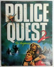 Vtg PC Game POLICE QUEST 2 Vengeance MS-DOS 3.5 Disks w/ Officer's Guide, Box