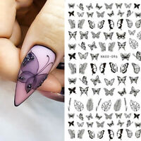 3D Nail Stickers Butterfly Geometric Transfer Decals Nail Art Decorations DIY