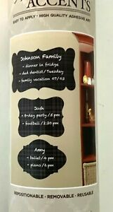 Designer Wall Accents Chalkboard Silhouettes Reposition-able Dark Plaid