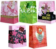 12//24 mittel Geschenktüten Geschenktaschen Papier Geschenkbeutel Blumen 3014 B2