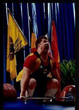 Matthias Steiner Foto  20x30 Original Sign Olympiasieger Gewichtheben +G 15993