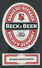 Beck's beer, bremen cervecería etiqueta (hb-079)