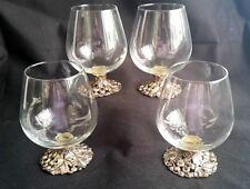 Arthur Court Rare 1996 Goblets Glasses 4 Snifters Brandy Cognac Signed Labeled