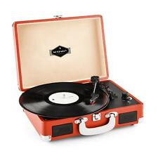 AUNA PEGGY VINYL RECORD PLAYER RETRO VINTAGE MUSIC USB DARK ORANGE *FREE P&P UK*