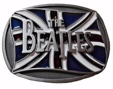The BEATLES British Flag Metal/Enamel BELT BUCKLE