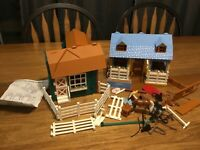 Breyer stablemates lot Riding academy tack shop lots of accessories horse