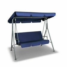 Gardeon GSC-MAJKA-3S-NY Canopy Swing Chair - Navy