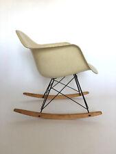 All original Eames Herman Miller Fiberglass Rocking Chair from 1957