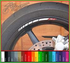 8 x YAMAHA R1 Wheel Rim Stickers Decals - 20 Colours available -  yzf yzfr1