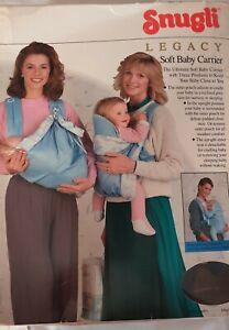 Vintage Snugli Legacy Soft Baby Carrier -3 Positions-Adjustable