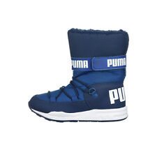 PUMA Trinomic Royal Navy Blue Snow Boots Lined Water Proof Children Kids Shoes