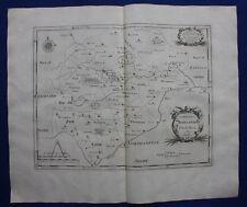RUTLAND 'ROTELANDIAE' original antique map from CAMDEN'S BRITANNIA, Morden, 1722