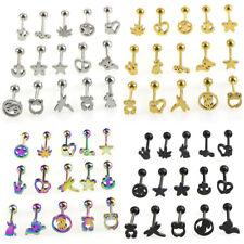 15Pcs Different Style  Elegant  Bar Set Tongue Bar Body Piercing Jewelry M&R