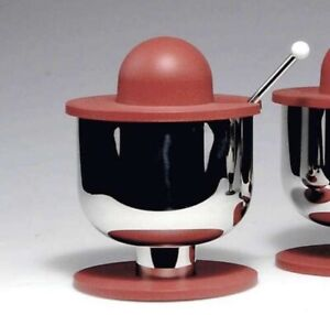 Rare Sugar Bowl with Spoon - Ettore Sottsass for Alessi 1998 / Out of Production