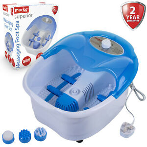 Foot Spa Vibrating Wet Massager Pedicure Footspa Soothing Bubbles Roller Massage