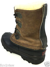 Sorel Caribou Waterproof Winter Men's Boots  Brown / Black Size 11 US.