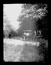 8x6 Glass Negative Mrs. Stackpole & Richards Family In Surrey Rochester NH 1903