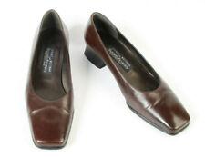 Stuart Weitzman Russell & Bromley Marrón Cuero Tacón Bajo Tribunal Zapatos UK 4.5