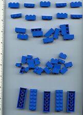 LEGO x 30 Blue Brick 1 x 2, x 20 Blue Brick 1 x 3, x 5 Blue Brick 2 x 6 NEW