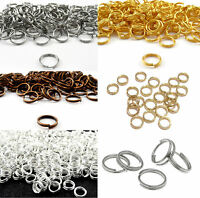 200-450x Metal Double Loop Jumprings Split Open Jump Rings 4/5/6/8/10/12mm 1 LOT
