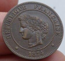 Superbe 5 centimes Céres 1874 A