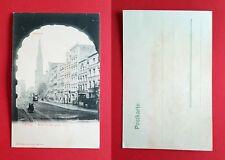 AK DANZIG um 1900 Blick durch das grüne Tor mit Strassenbahn  ( 35299