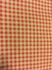 Quality Handmade Red & Ivory CHECK VALANCE 16x44 Country Primitive