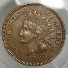 1909-S Indian Cent, Choice Almost Uncirculated, Original, Problem Free PCGS Cert