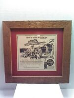 Vintage 1944 Framed and Matted Wailuku Hawaiian Coca-Cola Coke Ad