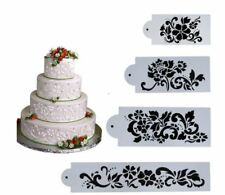 Cassie Celebration Cake Floral Design  Cake Decor Border stencils 4 pack