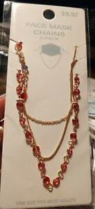 Face Mask Chains/Holders Jewelry Accent -  3 Pack