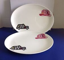 TWO Royal Doulton Pop in For Drinks Oval Platters  RDPIFD25852 NIB  LIST $200