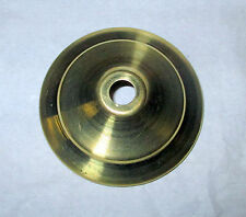 """(1) 3"""" Spun Brass Vase Cap - Unfinished"""