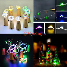 1X Colorful 1.5M 20LEDs Cork Shaped  Night Light Starry Lights Wine Bottle Lamp