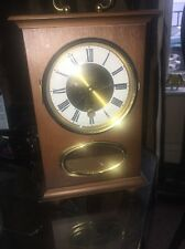 Schmid Wood Mantel Clock Vintage German Made 8 Day Rare Item